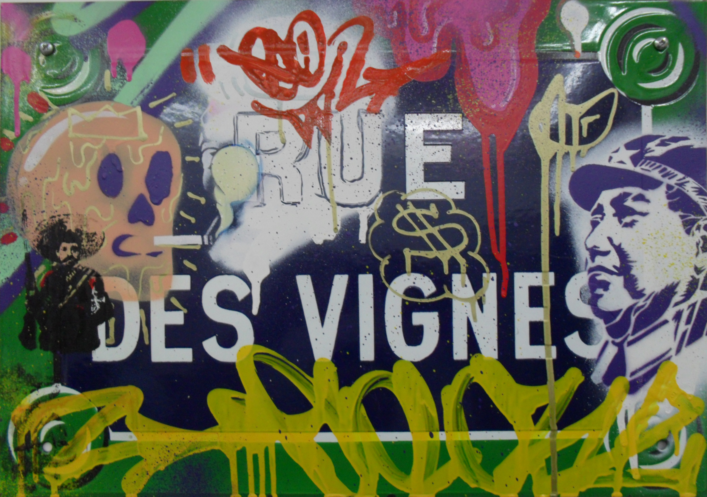 Collaboration Gilbert & Colorz - Rue des Vignes - 2011